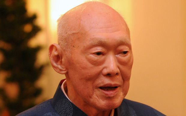 Former Prime Minister Lee Kuan Yew.