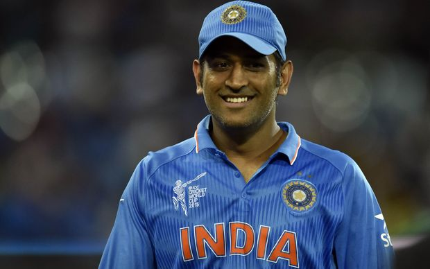 The India cricket captain MS Dhoni.