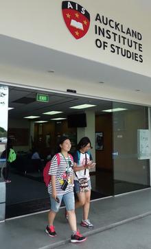 Students at Auckland Institute of Studies.