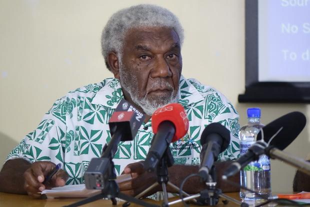 Vanuatu Prime Minister Joe Natuman