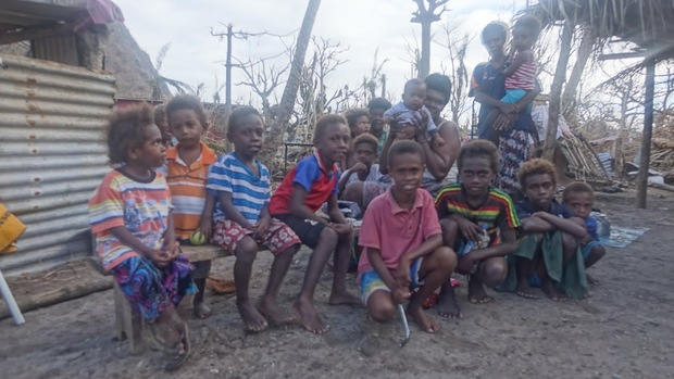 Children on Mataso Island were saved by sheltering in rocks in the hillsides.
