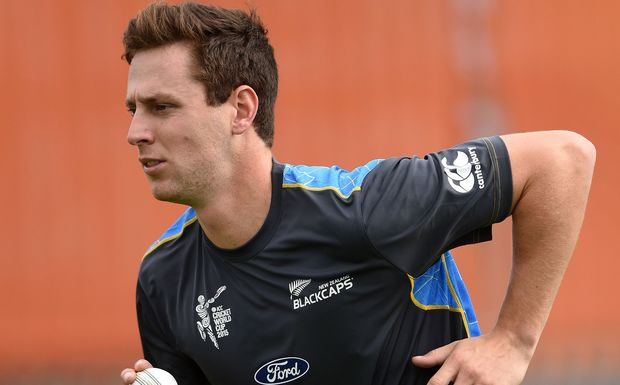 Matt Henry training with the Black Caps World Cup squad, 2015.