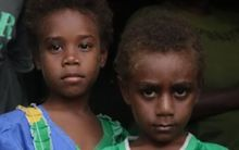 Children on Matasao Island, Vanuatu.