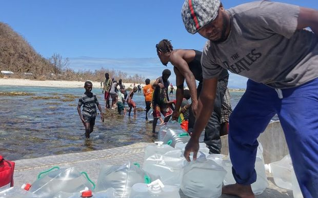 People helping out on Makira Island