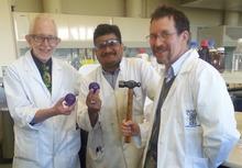 A photo of Lyall Hanton, Shailesh Goswami and John McAdam