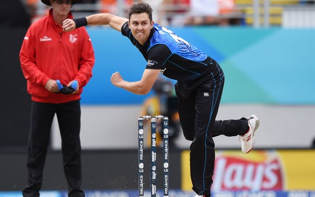 Trent Boult in action against South Africa.