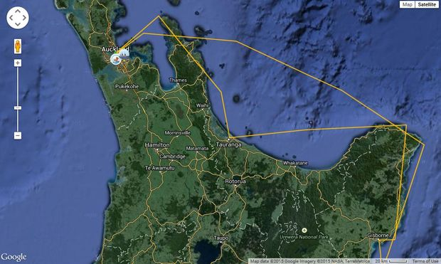 A screenshot showing the voyage of the two waka around Aotearoa.