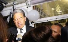 Winston Peters talks to media in Russell after sweeping to victory in Northland.