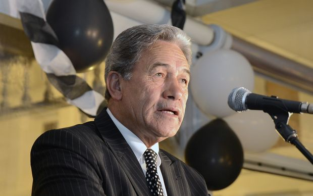 Winston Peters makes his victory speech at the Duke of Marlborough Hotel in Russell.