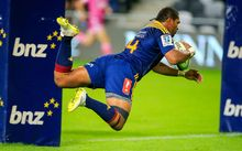 Waisake Naholo is flying for the Highlanders