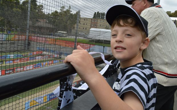 Eight-year-old Nick Bradford is a passionate Black Caps fan.