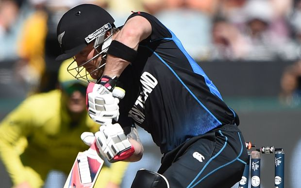 New Zealand captain Brendon McCullum is bowled by Australia's Mitchell Starc