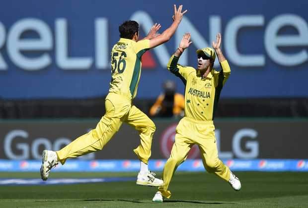 Australia take the wicket of Brendon McCullum.
