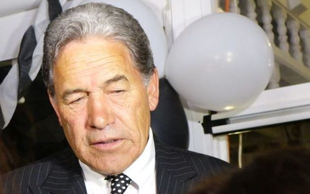 Winston Peters talking to media in Russell after sweeping to victory in Northland.