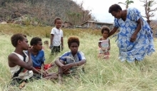 Children on the island of Eramango.