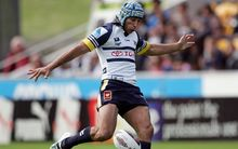 The Cowboys Johnathan Thurston in NRL action.