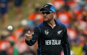 The Black Caps' captain Brendon McCullum bowling during the Cricket World Cup.