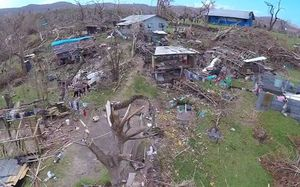 Damage by Cyclone Pam in remote parts of Vanuatu.