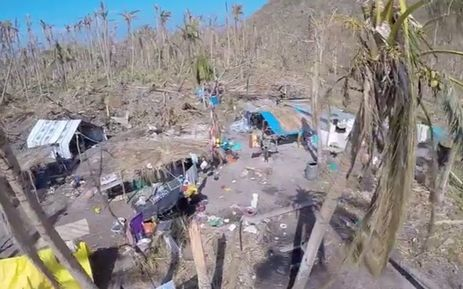 Damage by Cyclone Pam in remote parts of Vanuatu.