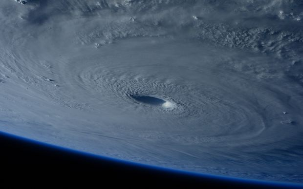 Cyclone Maysak seen from the International Space Station.