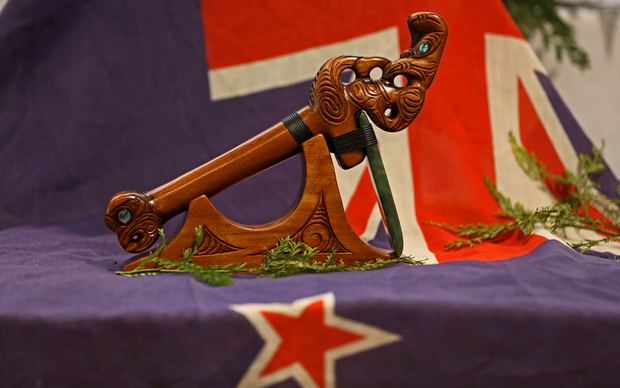 A gift to the Crown from Ngati Hineuru after Treaty Resettlement in the Beehive 02/04/2015.
