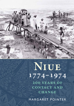 Cover picture used in Niue 1774–1974: 200 years of contact and change. Author Margaret Pointer. 