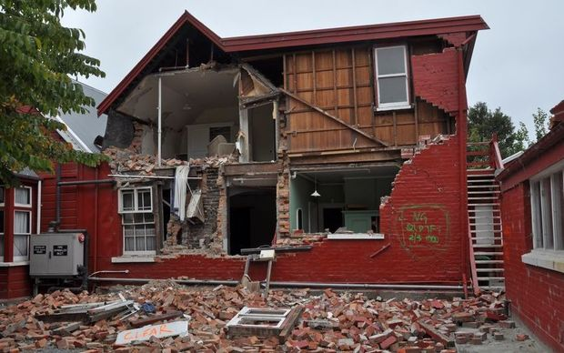 Many houses, such as this one in Cramner Square, were damaged beyond repair in the Christchurch earthquakes.