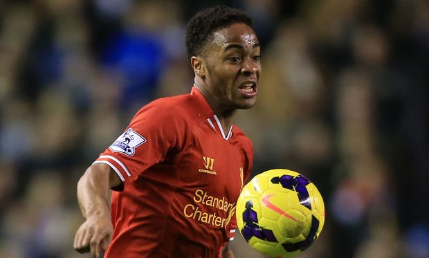 Liverpool's Raheem Sterling in action.