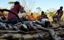 Thursday 19th of March. Farmers from Teoma bush share the last roots from their Kava plantation.