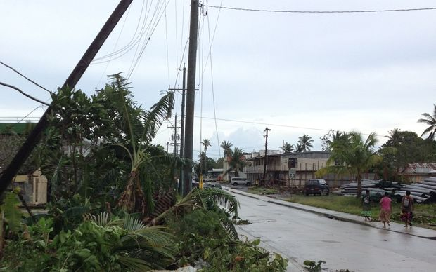 Weno in Chuuk, FSM, suffers damage in Typhoon Maysak