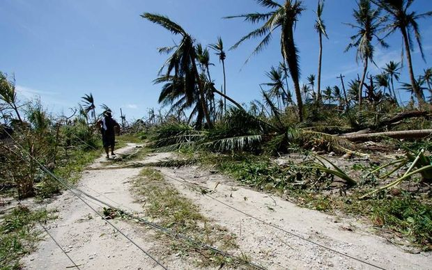 Damage caused by Typhoon Maysak in Ulithi, Yap, Federated States of Micronesia