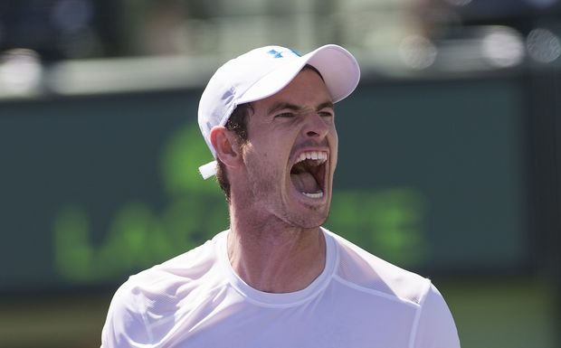 Andy Murray competes in Miami 2015