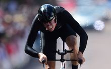 Jesse Sergent of New Zealand competes in the Men's Time Trial. Road Cycling Individual Time Trial at the Glasgow Commonwealth Games. Glasgow, Scotland.