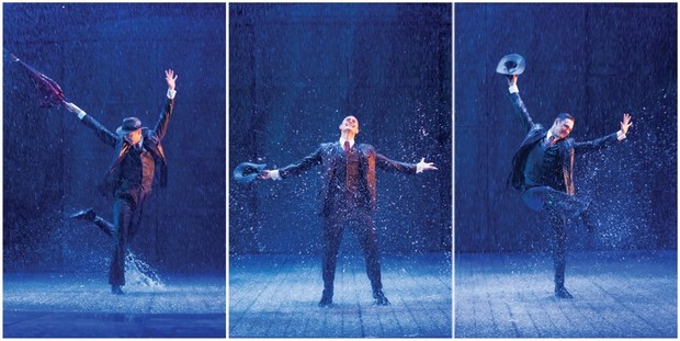 "Rain is forecast for the century-old St James Theatre as it's turned into a ""water park"" to recreate the scenes made so famous by Gene Kelly and Debbie Reynolds."