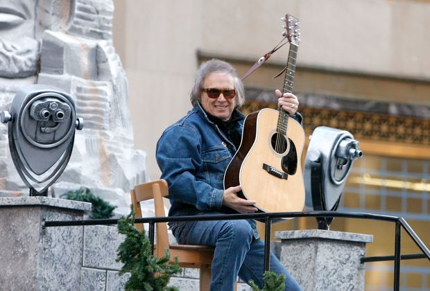 Musician Don McLean at the 86th Annual Macy's Thanksgiving Day Parade in New York City in 2012.