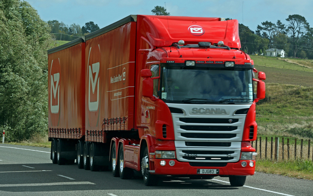 New Zealand Post delivery truck south of Palmerston North.