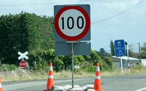 Road sign on the Kapiti Coast.