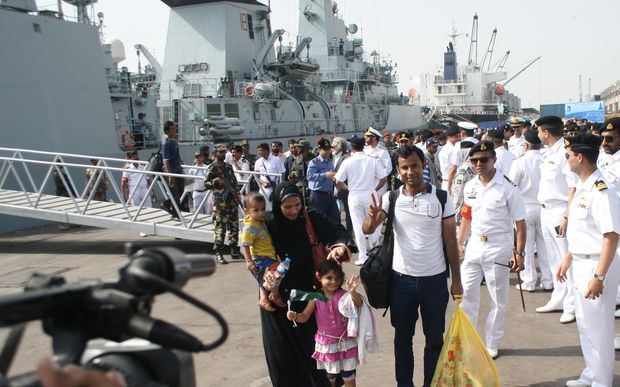Pakistan sent a navy vessel to evacuate Pakistani and other citizens from Yemen.