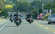 Motorcyclist heading south in Kapiti.