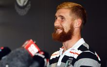 Sam Tomkins looks relieved after announcing his early exit