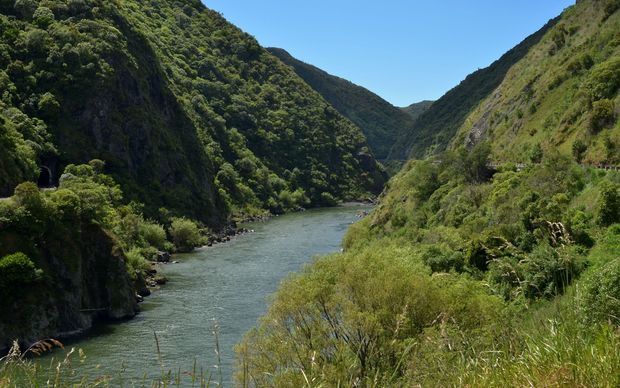 The Manawatu gorge.