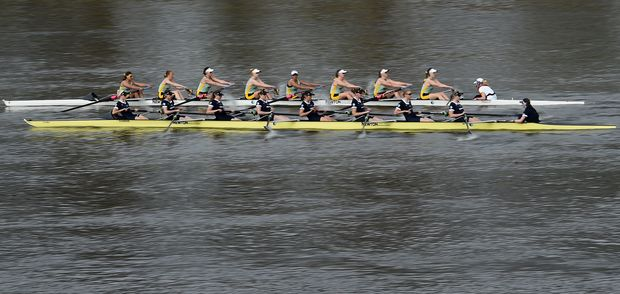 Oxford and Cambridge compete in the 2015 Women's Reserve Boat Race on the River Thames.