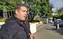 Cameron Slater outside the Court of Appeal