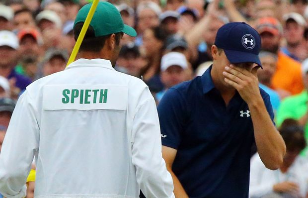 Jordan Spieth reacts to his US Masters success.