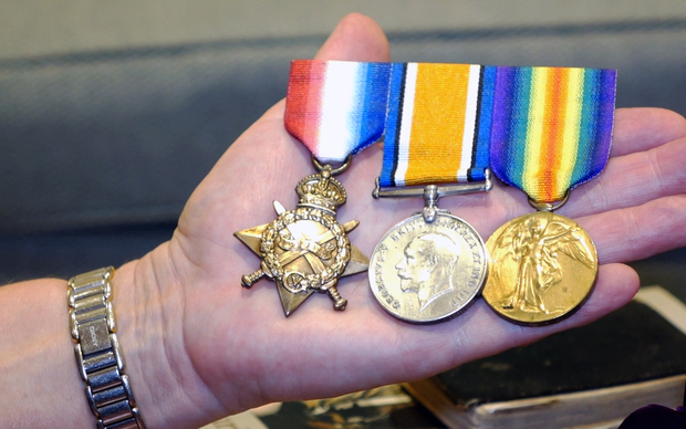 Ted Gasparich's medals.