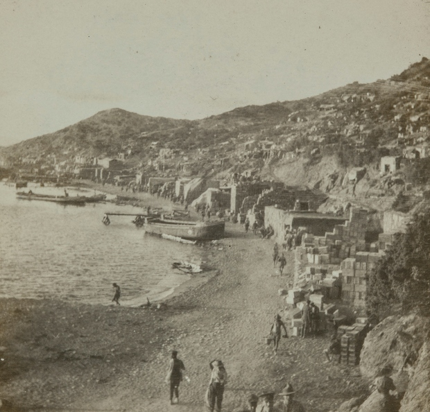 Archival image of Anzac Cove (1915) from Auckland Museum collections that inspired students.