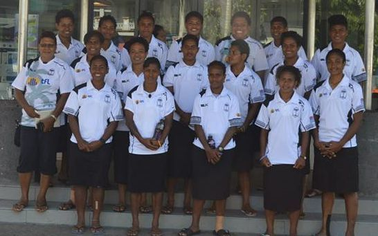 The Fiji women's sevens team that will compete at the Canada Sevens.