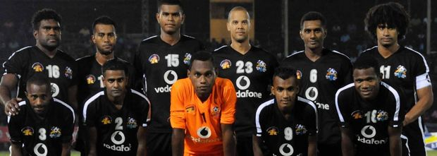 Fiji's Ba Football Team during the 2015 OFC Champions League