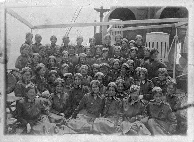 New Zealand nurses on board SS Rotorua,  May 1916.