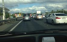 Auckland traffic gridlock